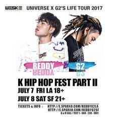 "D-12! K-HIP HOP Fest Part II - Get $6 discount w/ code ""WESKEVIP"" while lasts - 7/7 #LA 18+ : http://e.sparxo.com/reddyg2la 7/8 #SF 21+ : http://e.sparxo.com/reddyg2sf Link in bio LA: @weskeent SF: @paulban - #Reddy #레디 #G2 #지투 (full show) #Keroone #Gemini #ApolloLoco #Demi #JustinPark #BabyJ #WonJ #BokNCren (K & M) #Lunick #CocoAvenue #BJ  #1llb  #Saebyuk  #YEMusic #Slez - #tour #losangeles #sanfrancisco #khiphop #khiphopfest #샌프란 #엘에이 #333live #thegrandsf"