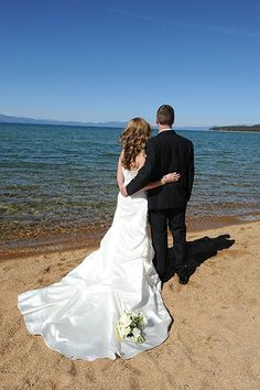 Book your destination wedding at The Landing Resort & Spa, in beautiful South Lake Tahoe! Stunning views, like this one lakeside. #destinationwedding #Tahoewedding http://www.TahoeWeddingSites.com