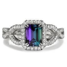 Omi Prive alexandrite twist ring. Alexandrite is so expensive, holy crap