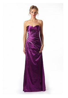 Special Elastic Silk Like Satin Sweetheart Sheath/ Column With Beading Evening Gown