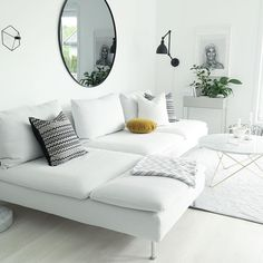 New Living Room Ikea Couch White Sofas 42 Ideas Living Room Decor Ikea, Living Room White, White Rooms, New Living Room, Interior Design Living Room, Home And Living, Living Room Designs, Living Room Furniture, Ikea Interior