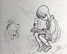 e.h. shepard drawings | The Winnie-the-Pooh Drawings of Ernest H. Shepard