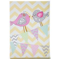 Yellow & White Chevron Birds & Banners Wall Plaque | Shop Hobby Lobby