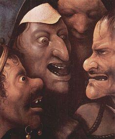Bosch, Hieronymus: Die Kreuztragung Christi, Detail