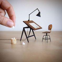 Miniature Drafting Desk/Chair