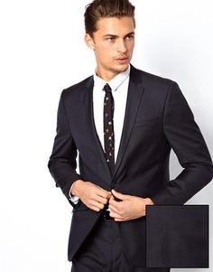 ASOS Slim Fit Suit Jacket in 100% Wool
