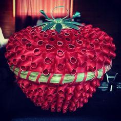 Strawberry basket by Mohawk basket maker, Ann Mitchell.