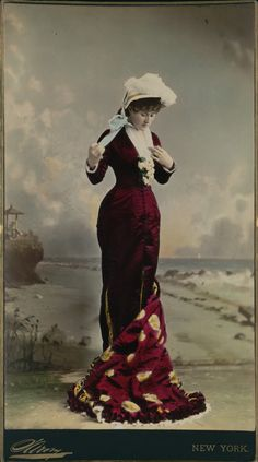 Colored photo of a stage actress circa 1880