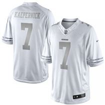 Nike White Platinum Jersey San Francisco 49ers 7 Colin Kaepernick  25 Nfl Jerseys  Men 4813c26d9