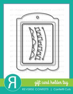 Confetti Cuts: Gift Card Holder. Reverse Confetti Nov 2015 product release. Coordinates with Hang Ups Confetti Cuts.