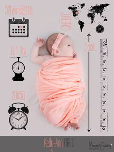 Roxane Genty Photographe - Québec - Birth Annoucement Birth Photography - Baby photography