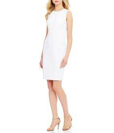 Calvin Klein Compression Sleeveless Sheath Dress