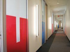Shire Biochem Canada Inc Linear System, Hallways, Beams, Divider, Canada, Led, Lighting, Room, Furniture