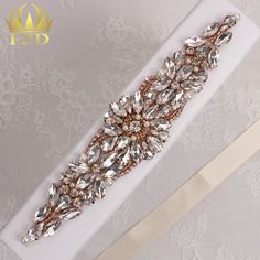 (30pieces) Wholesale Hotfix Rose Gold Crystals Rhinestone Sequin Applique for…