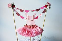Ballerina Tutu Cake Topper Bunting Set by sofiabakerysupply, $20.00