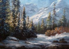 landscape oil painting with Kevin Hill. Learn techniques that can improve oil, acrylic and even watercolor paintings. Kevin Hill Paintings, Bob Ross Paintings, Oil Painting Lessons, Painting Videos, Painting Tutorials, Painting Snow, Forest Painting, Watercolor Landscape, Landscape Paintings