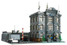 lego police station moc | Courtesy Police Department by Dark-Alamez