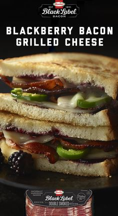 Stop drooling and make it already. Blackberry Smoke, Blackberry Recipes, Smoke Grill, Smoked Bacon, Smoking Meat, Pantone, Sandwiches, Label, Fancy
