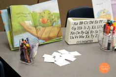 Provocations can be overwhelming. Let's take a look at some simple ideas for literacy provocations found in a Reggio-Inspired Preschool. Emergent Literacy, Literacy And Numeracy, Kindergarten Centers, Early Literacy, Literacy Activities, Kindergarten Activities, Preschool Ideas, Reggio Emilia, Fairy Dust Teaching