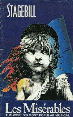 """Theatre Programme for the Return Chicago Production (one of many) of the Alain Boublil / Claude-Michel Schönberg / Herbert Kretzmer musical """"Les Misérables,"""" which performed from January 6 thru February 28, 1998 at the Auditorium Theatre of Roosevelt University. Greg Stone, Todd Alan Johnson, Stephen R. Buntrock, Holly Jo Cushing, Rich Affannato, Kate Fisher, J.P. Dougherty, Rona Figeroa, and Aymee Garcia starred in the production."""