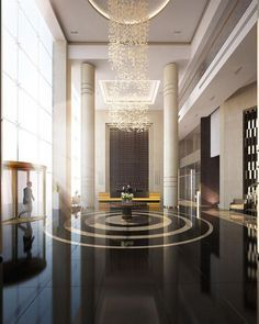 How a chandelier can complete your lobby ? Discover now at http://luxxu.net .