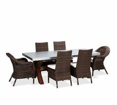 Weathered Driftwood Grey Dining Table Banana Leaf Parsons