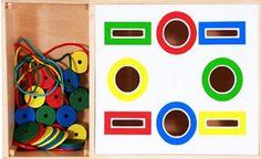Formas e cores. Depois alinhavo das peças      Encaixe e cores     Esta  atividade é apropriada para crianças com dificuldades  de ap...