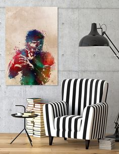 Discover «american football player», Numbered Edition Aluminum Print by Justyna Jaszke - From $59 - Curioos