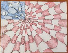 How to Draw an Op Art Bullseye - Art by Ro Drawing Practice, Line Drawing, White Highlights, Vanishing Point, Artist Trading Cards, Elements Of Art, Op Art, Prismacolor, Optical Illusions