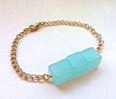 Mint Cube Bracelet