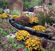 Longwood Gardens Fall Landscapes | Fall Gardens | Fall train display at Longwood Gardens