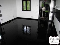 The Trials And Tribulations Of A Painted Floor Black Laminate Flooringpainting