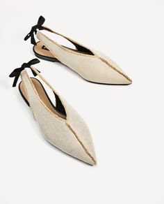 GOLDEN BRADED BLUCHERS-View All-SHOES-WOMAN-SALE | ZARA United States