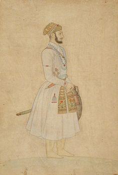 Prince Muhammad Muazzam afterwards Emperor Shah Alam Bahadur (Bahadur Shah I) Mughal Miniature Paintings, Mughal Paintings, Islamic Paintings, Indian Paintings, Udaipur, Jodhpur, Bahadur Shah I, Mother India, Shah Alam