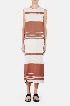 J.W. Anderson — Column Dress Rust — THE LINE