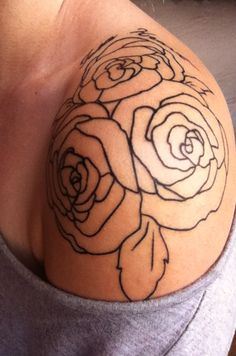Vintage Flower Tat! I am going to get the nerve to get this done sooner or later...I been wanting this! I want a few more flowers added in however going down my back.