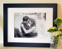Wedding song lyrics gift 8x10 Anniversary gift for husband First dance with photo Father's day gift Mother's day present Personalized gift by laceyfields on Etsy https://www.etsy.com/listing/94405762/wedding-song-lyrics-gift-8x10
