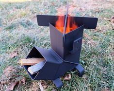 Rocket Stove *Removable top and Self Feeding* ChristiansburgWeld Rocket Stove / Camping Stove / Wood Stove / Emergency Stove /Survival Jeep Camping, Camping Cabins, Camping Trailers, Campsite, Parrilla Exterior, Navigateur Web, Cooking Stove, Cooking Beets, Container Architecture