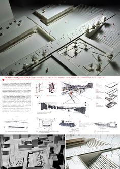 Archiprix Chile 2013 Winner: Paseo Gastronomic and Cultural / Santiago Beckdorf Center Print Maquette Architecture, Architecture Graphics, Architecture Student, Architecture Portfolio, Concept Architecture, Architecture Design, Architecture Presentation Board, Presentation Layout, Presentation Boards