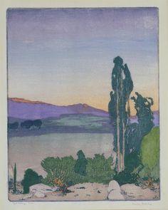 Ojai Valley, California, ca. 1930 by Frank Morley Fletcher (British, 1866–1950)