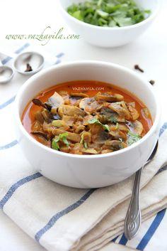 Mushroom curry with yogurt