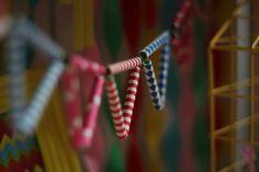Girlanda z papierowych słomek, ozdoby urodzinowe / Paper straw garland, party decoartions, @TigerPolska