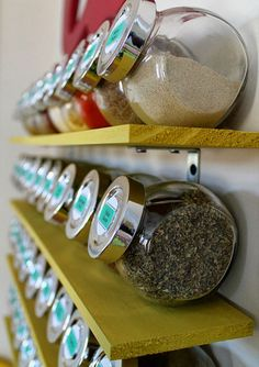 Spice Rack Shelves | Small Kitchen Organization Ideas | DIY Kitchen Storage Ideas for Small Spaces