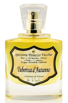 Tuberosa d'Autunno by I Profumi di Firenze is a powdery, balsamic, animalic and sweet white Floral fragrance with coconut and celery in the top. Tuberose, ylang and violet in the middle. Vanilla, benzoin and tolu in the base. - Fragrantica