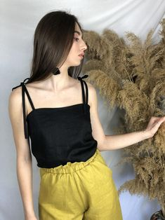 Fashion Today, Slow Fashion, Sustainable Clothing, Sustainable Fashion, Fashion Articles, Ethical Clothing, Capsule Wardrobe, Ties, Camisole Top