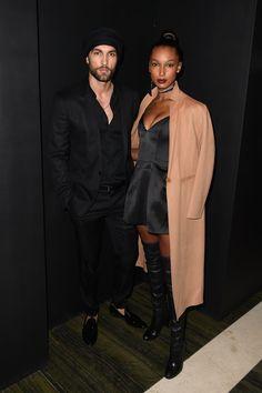 2016 - Tobias Sorensen & Jasmine Tookes at Balmain and Olivier Rousteing Celebrate the Met Gala  - HarpersBAZAAR.com