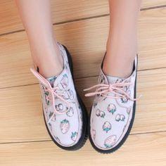 Korean fashion harajuku lace shoes
