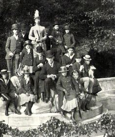 Imperial children of Russia with cousins during visit to Denmark.   Nicholas is in the front, he is the second from right to left.