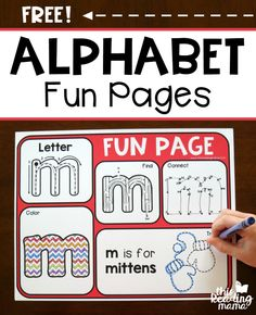 FREE Alphabet Fun Pages - a fun alternative to handwriting pages - This Reading Mama Alphabet Phonics, Preschool Letters, Learning The Alphabet, Preschool Kindergarten, Preschool Learning, Early Learning, Preschool Activities, Uppercase Alphabet, Prek Literacy
