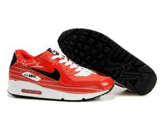 be0a21a4ef Shop 399204 600 Womens Nike Air Max 90 World Expo Challenge Red Black Best  black, grey, blue and more.